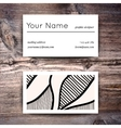 Business card template with creative white and vector image vector image
