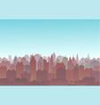 city silhouette land scape city landscape vector image vector image