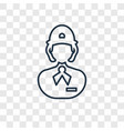 clerk concept linear icon isolated on transparent vector image
