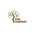 company tree logo vector image vector image