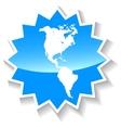 Continental Americas blue icon vector image vector image