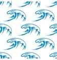 curling sea waves seamless pattern vector image