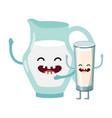 delicious tasty milk cartoon vector image
