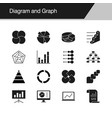 diagram and graph icons design for presentation vector image vector image