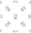 diamond stone pattern seamless vector image