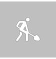 Digging man symbol vector image