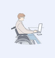 disability business freelance work online vector image