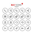 Easy icons 27b contacts vector image
