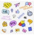Fashion patch badges Social networks set vector image vector image