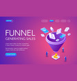 funnel generation sales vector image