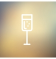 Glass of champagne thin line icon vector image vector image