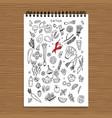 green vegetable set detox sketch for your design vector image vector image