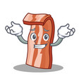 grinning bacon character cartoon style vector image vector image
