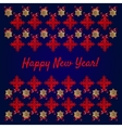 Happy new year card snowflakes on blue background vector image vector image