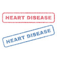 heart disease textile stamps vector image vector image