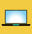 icon laptop black vector image