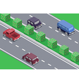 isometric car on the road vector image