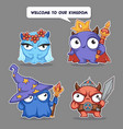 kingdom characters cute cartoon monsters vector image vector image