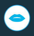 lips icon colored symbol premium quality isolated vector image