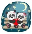 Lovers Pandas vector image vector image
