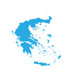 map of greece high detailed map - greece vector image