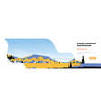 mountain yellow landscape power lines horizontal vector image