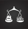 oil rate scales on black background vector image vector image