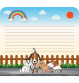 Paper design with cute dogs vector image vector image