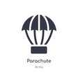 parachute icon isolated icon from army