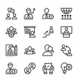 personal quality employee management line icons vector image vector image