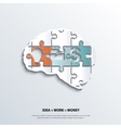 piece jigsaw puzzle showing business equation vector image vector image