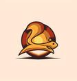 premium squirrel logo design template vintage vector image vector image