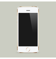 Realistic white mobile phone with blank screen vector image vector image