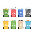 recycling bins for separated garbage organic vector image