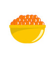 red caviar icon flat style vector image vector image