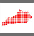 red dot map of kentucky vector image vector image
