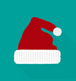 santa claus hat in a flat style vector image vector image