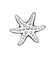 Sea star icon vector image