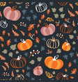 seamless pattern for thanksgiving celebration of vector image vector image