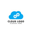 service cloud tech icon design cloud vector image