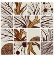 set of abstract backgrounds with tree branches and vector image vector image