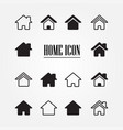 set of home icon vector image