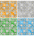 set of modern backgrounds with circles vector image vector image