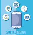 smartphone and social media vector image