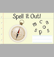 spell english word compass vector image vector image