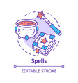 spells concept icon witchcraft and wizardry idea vector image