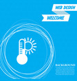 temperature medicine thermometer weather climate vector image
