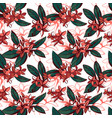 tropical floral summer seamless pattern vector image vector image