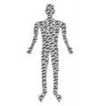 ufo man figure vector image vector image