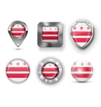 USA State Flag Badges vector image vector image